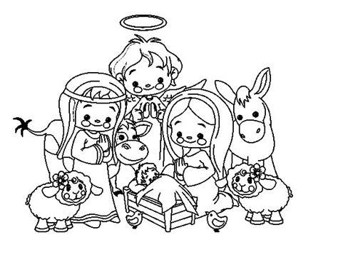 Imagenes De Navidad Para Colorear Nacimientos | dibujo de el nacimiento para colorear dibujos net