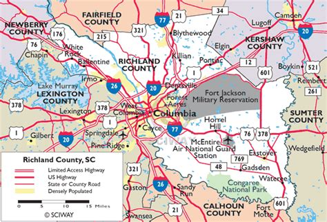 Richland County Records Sc Maps Of Richland County South Carolina