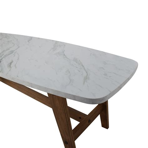 82% OFF   Faux Marble Coffee Table / Tables