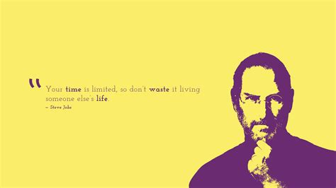 Wallpaper Time is limited, Don't waste, Steve Jobs
