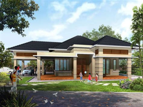 pictures of one story houses modern contemporary single story house plans home deco plans