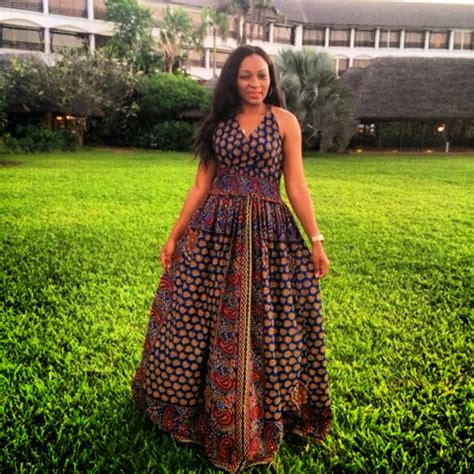 Kiki's Fashion: African print Maxi dress designed by Kiki