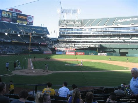 section v athletics oakland coliseum section 115 oakland athletics