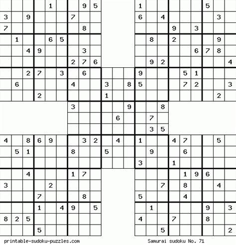 Sudoku Samurai Para Imprimir Juego Sudoku Samurai Para | sudokus para imprimir imagui