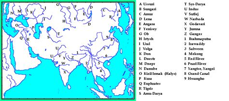 world map asia rivers whkmla historical atlas asia page