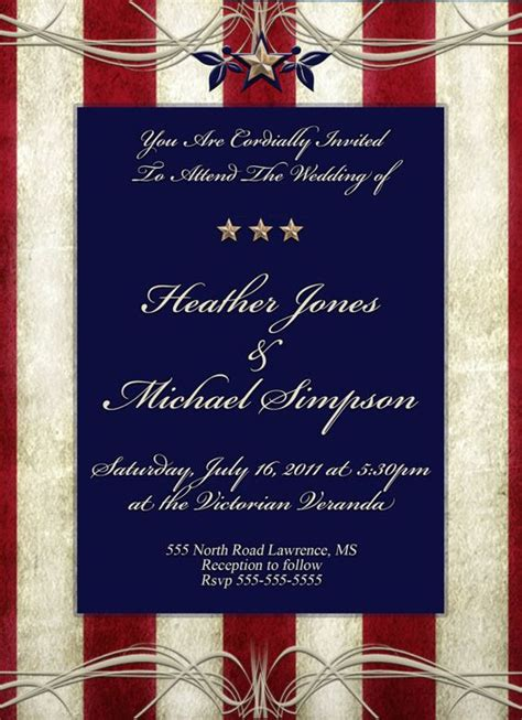patriotic invitation templates free 4th of july patriotic wedding theme inspirations