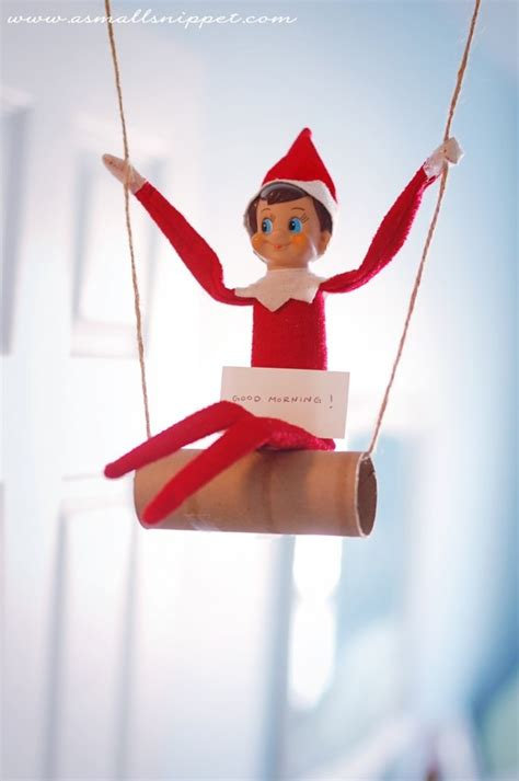 is swinging a good idea 19 elf on the shelf ideas tip junkie