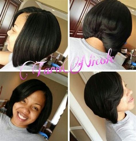 shhort bob glue in extension bkack haur bob action quick weave double cap no glue on hair easy