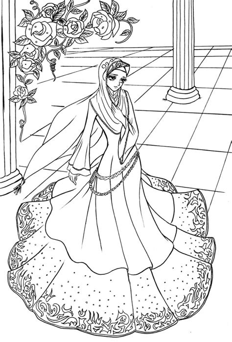 coloring pages for adults princess hijab princess 01 by elyunni on deviantart things to do