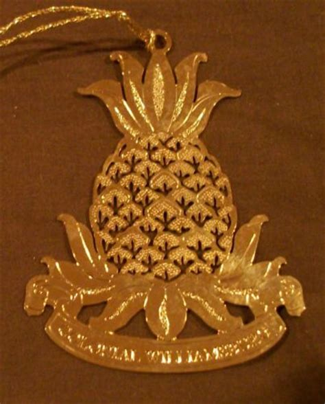 colonial williamsburg christmas ornament pineapple 24