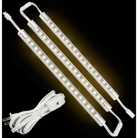 ge cabinet lighting led ge 18 quot cabinet linkable led light fixture 3 pack