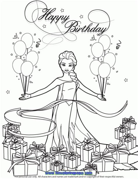 H M Coloring Pages Happy Birthday Princess Coloring Pages Printable