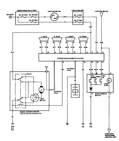 acura legend   wiring diagram audio