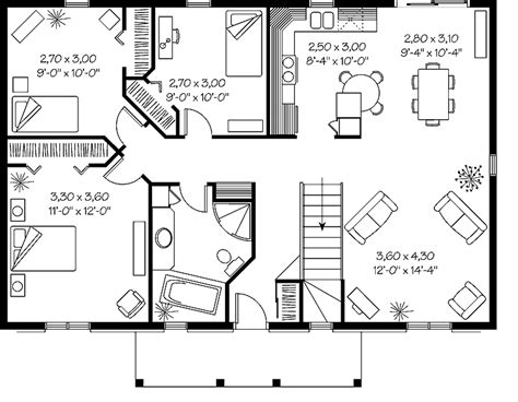 simple ranch house floor plans simple ranch design hwbdo06785 ranch house plan from