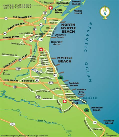area map of map of myrtle area
