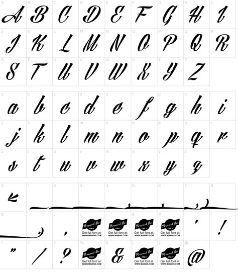 tattoo fonts download angilla font