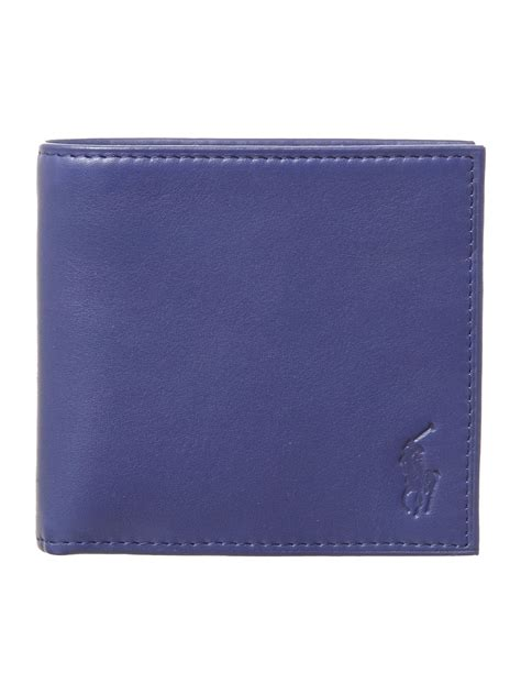 Polo Wallet For polo ralph bright billfold wallet in blue for lyst