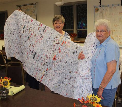 recycling plus generosity equals mats for the homeless