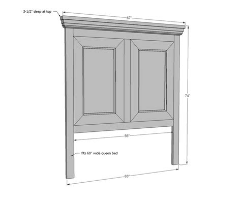 simple headboard plans ana white build a tall panel headboard queen free