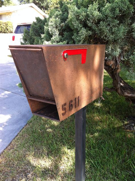 Handmade Mailbox - wanderlust ironworks metal artists and welding shop