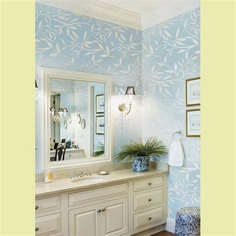 bathroom wall stencil ideas kathy peterson stencil line vines stencil contemporary bathroom new york by janna