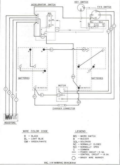 36 volt club car solenoid wiring diagram get free image