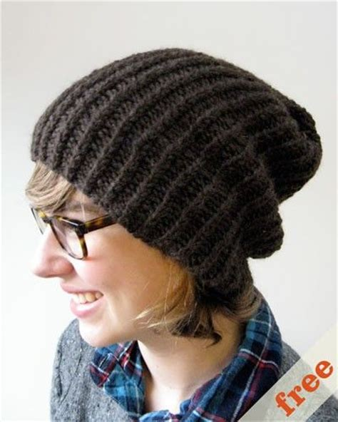 free knitting pattern simple hat free pattern for a simple slouchy knitted hat knitting