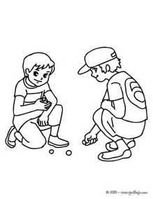 Dibujos Para Colorear Ni&241os Jugando A Las Canicas  Eshellokidscom sketch template