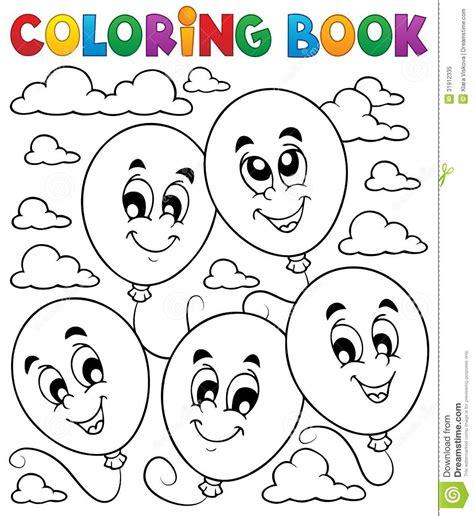 coloring book vector coloring book balloons theme 2 stock vector image 31912335
