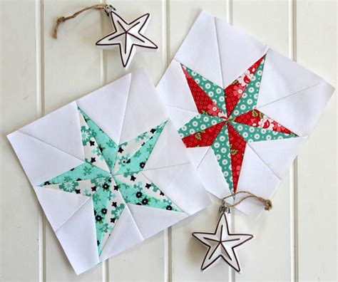 free printable christmas quilt patterns christmas star free quilt block pattern threadbare