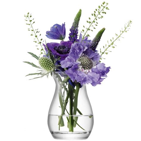 mini posy vase clear handmade glass flower collection
