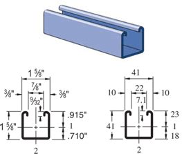 1 Meter To Square Feet buy unistrut p1000 channel framing strut unistrut