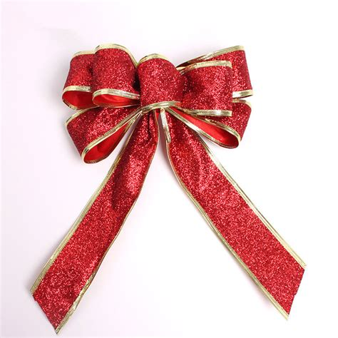 5color large red silver gold christmas ribbon bow