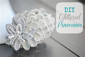 glittered pinecones diy holiday decor making lemonade