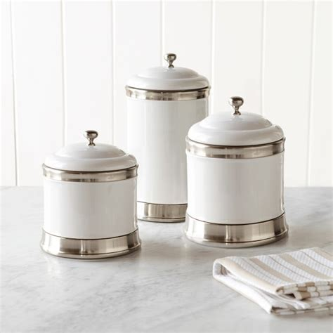 white ceramic kitchen canisters williams ceramic canisters set of 3 williams sonoma
