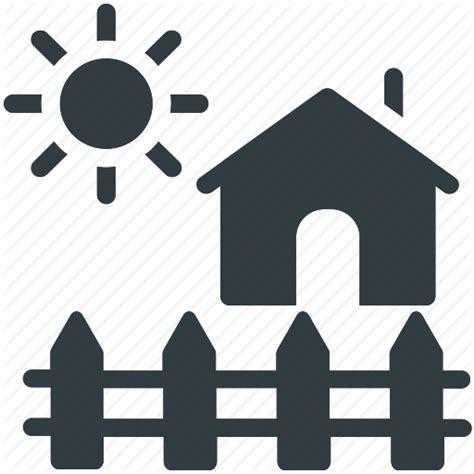 Garden Icon by Garden Theme House House Yard Rural House Sun Icon
