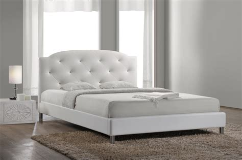 full size bed white baxton studiocanterbury white leather contemporary full size bed affordable modern