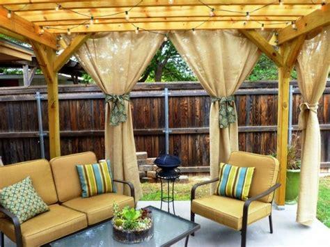outdoor curtains for pergola 10 relaxing outdoor curtain designs rilane