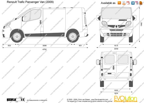 renault trafic 9 passenger van the blueprints com vector drawing renault trafic