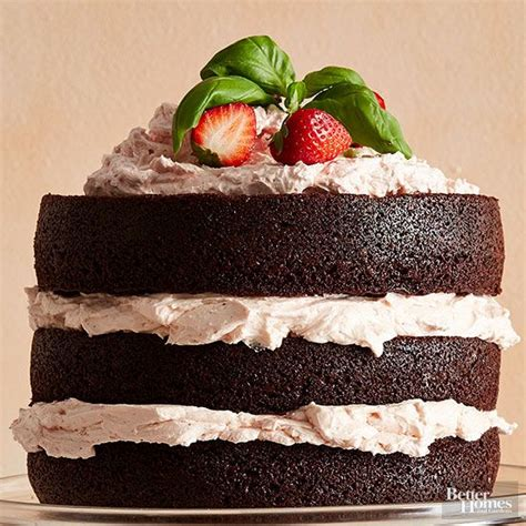 better homes and gardens march 2015 recipes strawberry buttercream dark chocolate cakes and