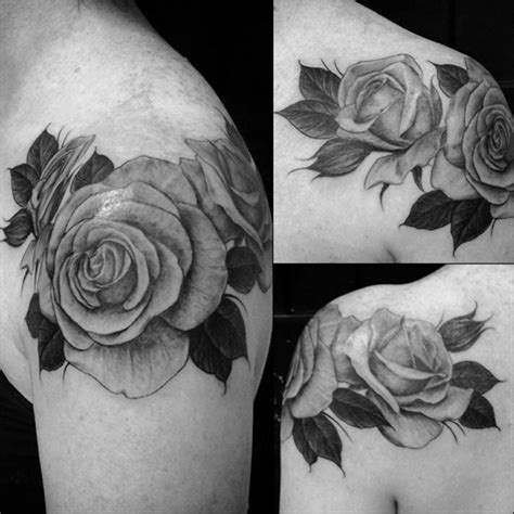 black rose shoulder tattoo 63 black and grey awesome shoulder tattoos