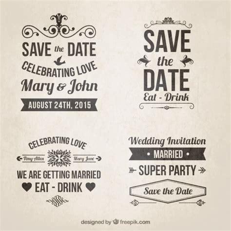 imagenes retro letra invitaciones de boda retro en estilo de letras descargar