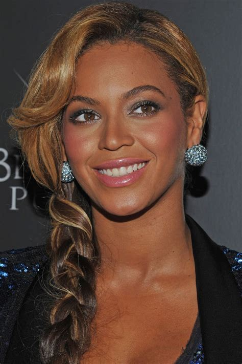 best styles to plait when expectant beyonc 233 s banging side braid how to get the look huffpost