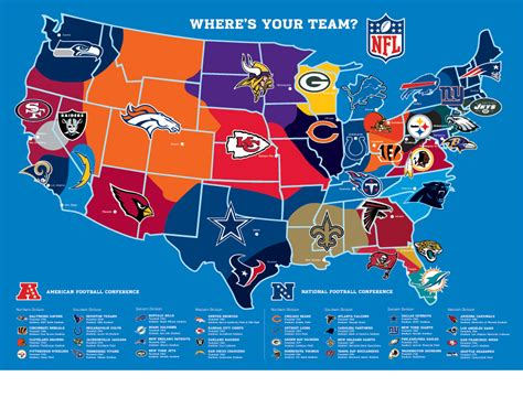 map usa football teams where is your nfl team