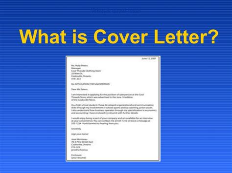 whats a cover letter for a what is cover letter