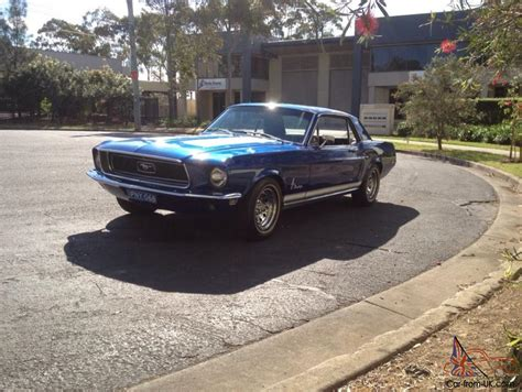Ford Mustang 1967 2d Hardtop 289 3 Sp Automatic 4 7l Carb Burnt In Melbourne Vic Ford Mustang 1968 2d Hardtop 3 Sp Automatic 4 7l Carb