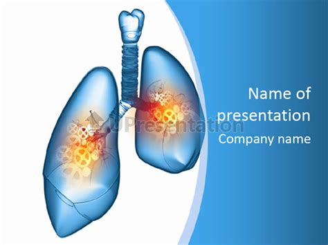 powerpoint themes lungs pain physiology lung powerpoint template id 0000089227