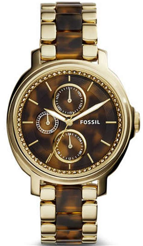 Fossil Es3923 Chelsey Multifunction Tortoise And Acetate s fossil chelsey tortoise and acetate es3923