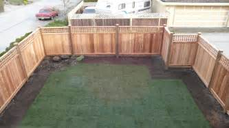 Cedar panel fence installation nicholson landscaping coquitlam