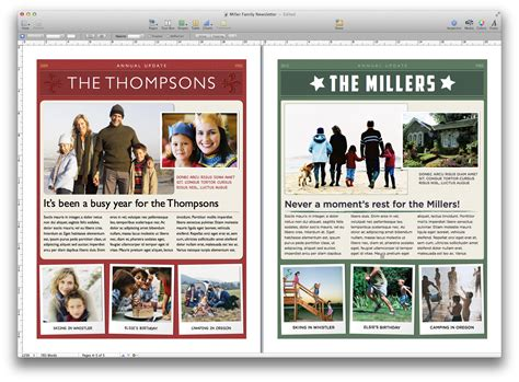 create a holiday newsletter with pages or iphoto macworld
